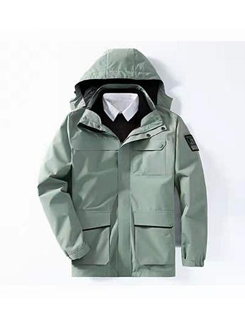 冲锋衣定制 高端冲锋衣男士冬季 豆绿色高端冲锋衣