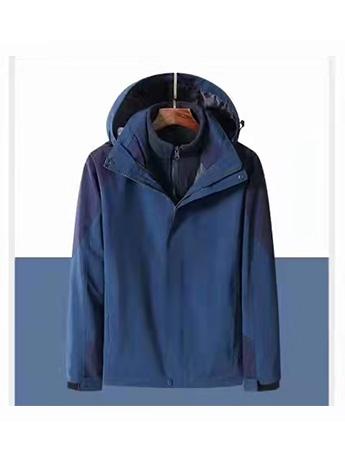 冲锋衣定制 高端品质冲锋衣男士冬季 藏蓝色防水冲锋衣