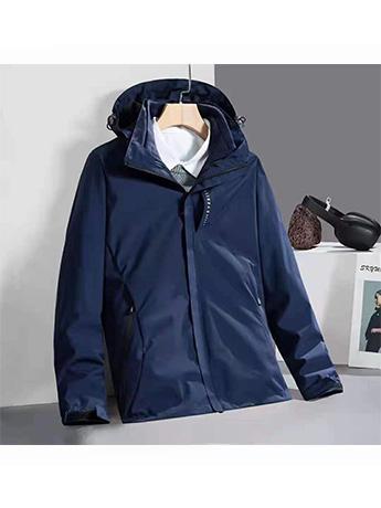 冲锋衣定制 高端冲锋衣男士秋冬季 深蓝色防水冲锋衣