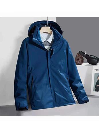 冲锋衣定制 高端冲锋衣男士秋冬季 高级蓝色高端冲锋衣