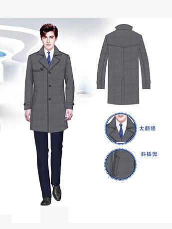 大衣定制,高端时尚男士大衣定制,高级灰色男士大衣