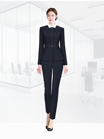 行政职业装定制  时尚职业装女士春秋季 黑色时尚职业装