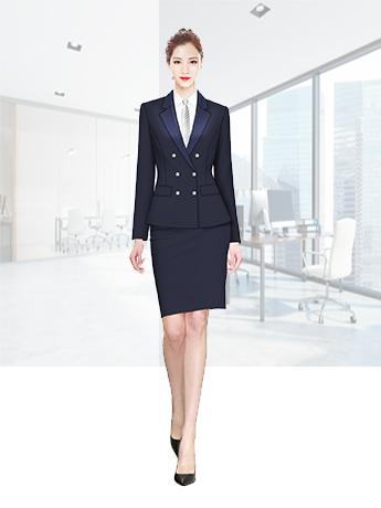 纯色女士西服套装夏季职业正装套裙