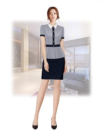 职业装定制 时尚职业装女士短袖套裙 时尚职业装