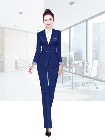 女士时尚西服套装春秋季纯色商务西服