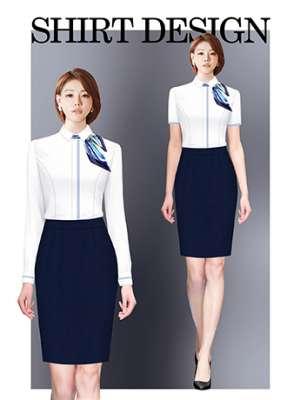 衬衫定制 时尚长袖衬衫女士春季 白色
