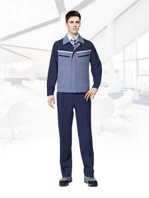长袖工作服套装男耐磨春秋厂服 暗蓝色