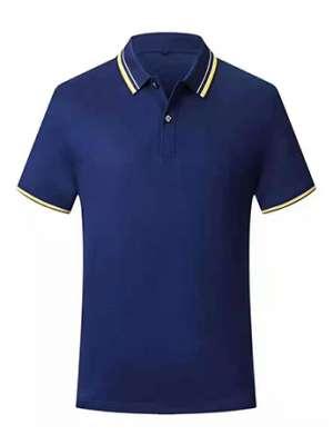 时尚T恤衫男士夏季 深蓝色短袖