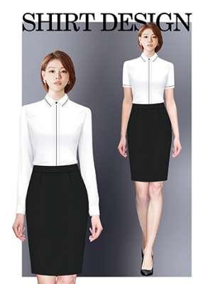 衬衫定制 时尚衬衫女士秋季 高贵白色