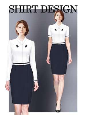 衬衫定制 时尚衬衫女士春秋季 优雅白