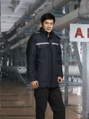 反光条工作服男士冬季棉服防风保暖