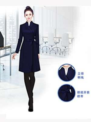 高端大衣定制 藏蓝色时尚女士