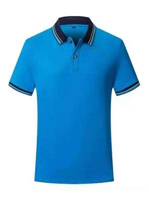 时尚T恤衫男士秋季 宝蓝色短袖