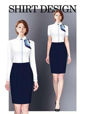 衬衫定制 时尚衬衫女士春秋季 白色长